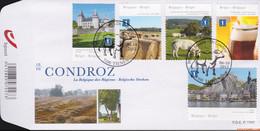 België 2012 - Mi:4326/4330, Yv:4260/4264, OBP:4280/4284, Fdc - O - Belgian Regions The Condroz - 2001-10