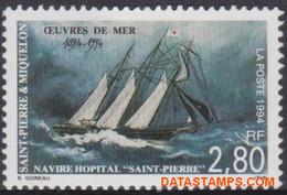 Saint Pierre & Miquelon 1994 - Mi:676, Yv:598, Stamp - XX - Rescue At Sea - Nuevos