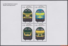 België 2011 - OBP:TRV BL 21, Railway Vignettes - XX - Diesel Displaces Steam - 1952-....