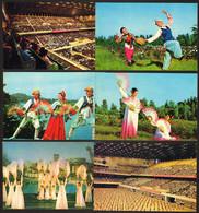 North Korea National Dance And Costumes Lot Of 6 Postcards   #32719 - Korea, North