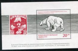 GREENLAND 2013 Postal Service Anniversary Block  MNH / **.  Michel Block 63A - Ohne Zuordnung