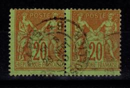 Paire Du YV 96 TB Pas Aminci Cote 20 Euros - 1876-1898 Sage (Type II)