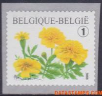 België 2008 - Mi:3832 A, Yv:3767a, OBP:3824, Coil Seal - XX - Flowers Tagetes Patula - Ongebruikt
