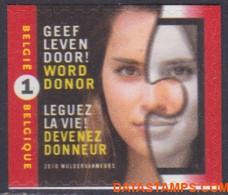 België 2010 - Mi:4037 Dl, Yv:3972, OBP:3991, Stamp - XX - Give Life Organ Donation - Ongebruikt