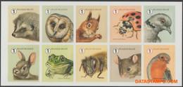 België 2020 - OBP:4936/4945, Stamp - XX - Garden Visitors - Ongebruikt