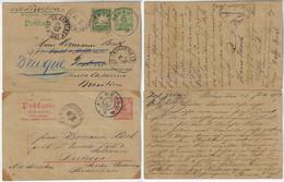 Germany Bavaria 1906 / 1907 2 Postal Stationery Rehau To Desterro Florianópolis Brazil By Lisbon 1 Re-addressed Brusque - Beieren