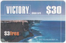 AUSTRALIA B-840 Prepaid Victory - Landscape, Coast - Used - Australia
