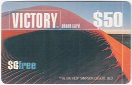 AUSTRALIA B-841 Prepaid Victory - Landscape, Desert - Used - Australia