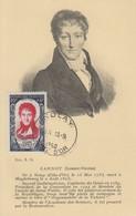 Carte  Maximum   FRANCE    Lazare   CARNOT    NOLAY   1950 - 1950-59