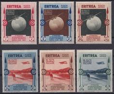 F-EX23532 ERITREA 1934 COLONIAL SET CAMEL & AVION. MANCHAS DEL TIEMPO. - Eritrea