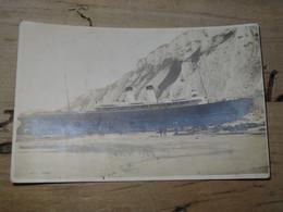 """BERNEVAL - Paquebot Le """"NEWHAVEN"""" Echouage Du 05 Aout 1924 - Belle Carte Photo ............. 201101c-3594 - Berneval"""
