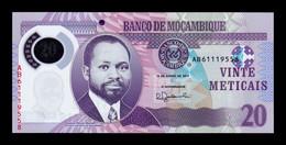Mozambique 20 Meticais 2017 Pick 149b Polymer SC UNC - Mozambique