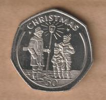GIBRALTAR 50 Pence  (Christmas) 1991  Copper-nickel • 13.5 G • ⌀ 30 Mm KM# 83 - Gibraltar