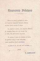 FRIULI TRIESTE UDINE GORIZIA PORDENONE TRAMONTO FRIULANO VERSI V. LOMBARDI - Sin Clasificación