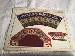 Le Moniteur Des Dames Et Des Demoiselles Tapisserie Planche De Tapisserie Signé Janvier 1856 - Other Plans