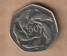 GIBRALTAR  50 Pence 1997 Copper-nickel • 8 G • ⌀ 27.3 Mm KM# 39.1 - Gibraltar