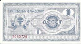 MACEDOINE 10 DENAR 1992 UNC P 1 - Macedonia