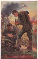 AK Nun Danket Alle Gott - Deutsche Soldaten Beim Gebet - Patriotika - 1. WK (55260) - War 1914-18