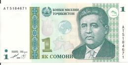 TADJIKISTAN 1 SOMONI 1999 (2010) UNC P 14A - Tajikistan
