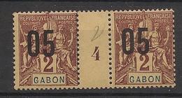 Gabon - 1912 - N°Yv. 66 - Groupe 05 Sur 2c - Paire Millésimée - Neuf * / MH VF - Neufs