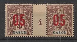 Gabon - 1912 - N°Yv. 67 - Groupe 05 Sur 4c - Paire Millésimée - Neuf * / MH VF - Neufs