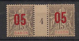 Gabon - 1912 - N°Yv. 68 - Groupe 05 Sur 15c - Paire Millésimée - Neuf * / MH VF - Neufs