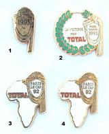 Lot De 4 Pin's PARIS DAKAR Et PARIS LE CAP - Sponsor TOTAL - K001 - Lots
