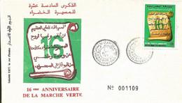 Maroc 1er Jour FDC YT 1109 Marche Verte Agadir 06/11/91 - Morocco (1956-...)