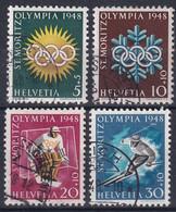Wohltätikeitsausgaben 25w-28w / Michel 492x-495x - Olympia 1948 St. Moritz - Inverno1948: St-Moritz