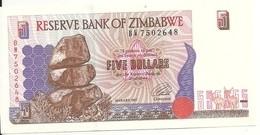 ZIMBABWE 5 DOLLARS 1997 UNC P 5 - Zimbabwe