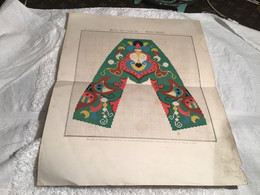 Musée De Famille Planche Tapisserie Mode Vrai Paris 22e Année Planche Et Impressions Des Couleurs Par Le Procédé Typogra - Other Plans