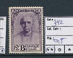 BELGIUM COB 342 MNH - Unused Stamps
