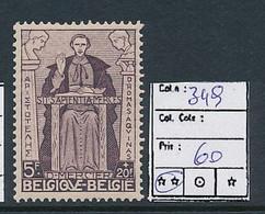 BELGIUM COB 349 MNH - Unused Stamps