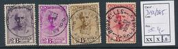 BELGIUM COB 342/345 USED - Used Stamps