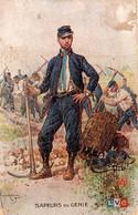 Sapeurs Du Génie. Dessin De Léon Hingré - Regimenten