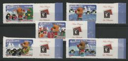 """N° 3986B à 3990B Cote 175 € """"Meilleurs Voeux"""" Avec Vignettes Privées """"Notre Passion La Philatélie"""" Neuf ** MNH QualitéTB - Personalized Stamps"""