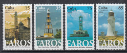 2014 Cuba Faros Lighthouses Phares Complete Set Of 4 MNH - Nuovi