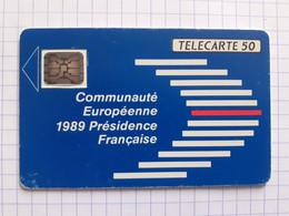 F107B 50U SC5an Conseil Européen De Strasbourg N°108829 Petit Embouti - 1989