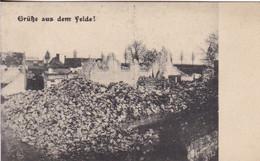 AK Athies - Ueberreste Der Kirche In Athies - Nordfrankreich - Ruine - 1. WK  (55267) - Other Municipalities