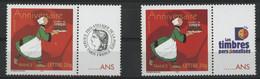 """N° 3778A (x2) Cote 12 € """"Bécassine"""" Avec Vignette """"Cérès"""" Et """"Les Timbres Personnalisés"""" Neufs ** MNH Qualité TB - Gepersonaliseerde Postzegels"""