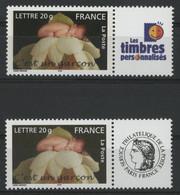 """N° 3805A (x2) Cote 8 € """"C'est Un Garçon"""" Avec Vignettes Neufs ** MNH Qualité TB (voir Description) - Gepersonaliseerde Postzegels"""