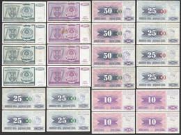 BOSNIA - HERZEGOVINA CROATIA 24 Stück Banknoten Ca. VF  (26606 - Bosnia Y Herzegovina