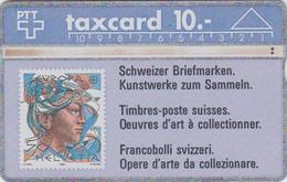 TC Magnétique L&G SUISSE - TIMBRE EUOPA PEINTURE Femme - STAMP With Woman On Phonecard SWITZERLAND - Card - 190 - Francobolli & Monete
