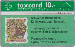 TC Magnétique L&G SUISSE - TIMBRE EUOPA PEINTURE Femme - STAMP With Woman On Phonecard SWITZERLAND - Card - 191 - Francobolli & Monete