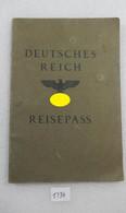 WW2 German Passport 1938 Holland,UK Visa,fiscal Stamps Passeport Reisepass - Documentos Históricos