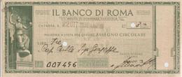 1-Assegno Banco Di Roma 1940-Periodo Fascista-Tema: Banca-Fascismo E Mussolini - Cheques & Traveler's Cheques