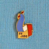 1 PIN'S //  ** COQ TRICOLORE / FÉDÉRATION FRANÇAISE DE JUDO ** - Judo