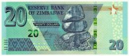 Zimbabwe - 20 Dollars - 2020 - Pick NEW - Unc. - Serie AA - Zimbabwe