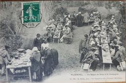 Ploermel.un Repas De Noce à La Campagne.coiffes Costumes Bretons.édition Bailly - Ploërmel