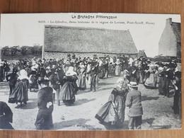 Le Djibedao,danse Bretonne De La Région De Lorient,pont-scorff,plouay.coiffes Costumes Bretons.édition Waron 6022 - Unclassified